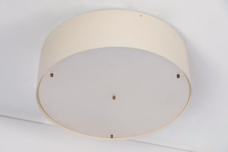 Large 1950s Jacques Biny Wall or Ceiling Light for Luminalite For Sale 1