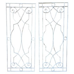 Pair of Large Architectural Iron Wall Hanging