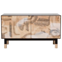 Painted Credenza with Blackened Steel Case