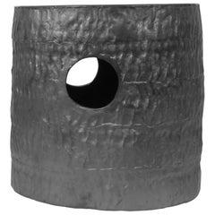 Jonathan Nesci w/ Robert Pulley Ceramic Stool with Black Coppered Glaze 18/16