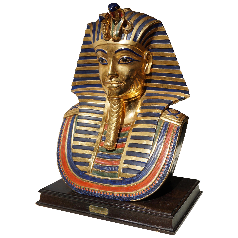 Capodimonte Pharaoh Tutankhamon in Porcelain