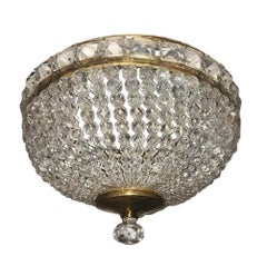 Set of Beaded Crystal Light Fixture, Sold Individually