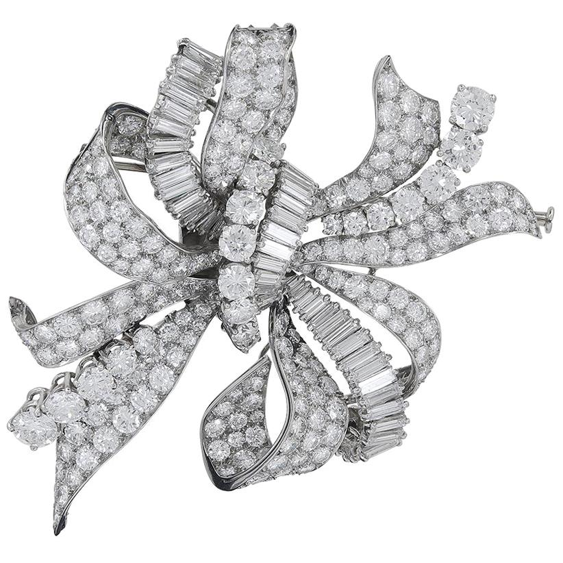 Bulgari Diamond Bow Brooch