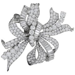 Bulgari Diamond Bow Brooch