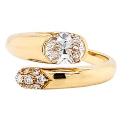 Bulgari Diamond Bypass Ring