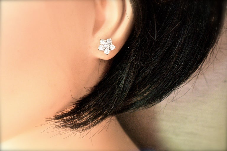 Bulgari Diamond Cluster Earrings In Excellent Condition For Sale In Aspen, CO