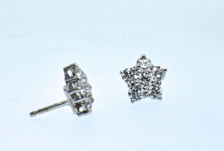 Bulgari Diamond Cluster Earrings For Sale 1