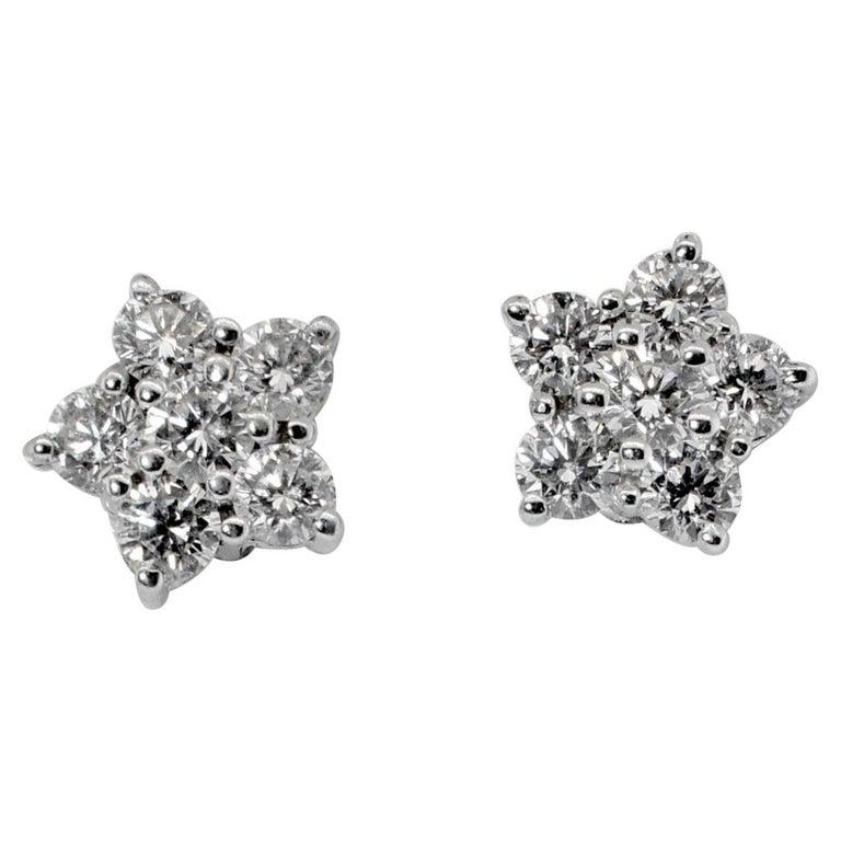 Bulgari Diamond Cluster Earrings For Sale