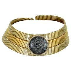Bulgari Diamond Coin Choker Gold Monete Necklace