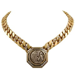 Bulgari Diamond Coin Necklace