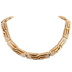 Bulgari Diamond Collar Necklace