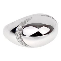 Bulgari Diamond Dome White Gold Ring