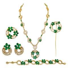 Bulgari Diamond Emerald 5-Piece Set