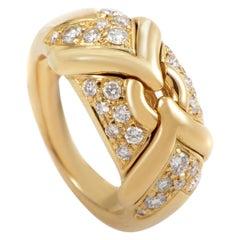 Bulgari Diamond Gold Band Ring