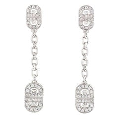 Bulgari Diamond Parentesi Dangle Drop Earrings