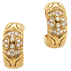 Bulgari Diamond Parentesi Hoop Earrings