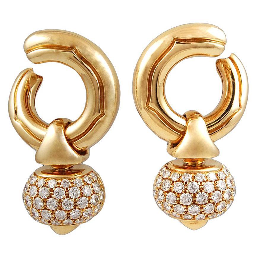 Bulgari Diamond Pigne Ear Clips