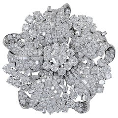 Bulgari Diamond Platinum Brooch