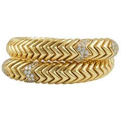 Bulgari Diamond Spiga Bracelet