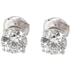 Bulgari Diamond Stud Earrings in 18 Karat Gold GIA Certified H/VVS1 3.02 Carat