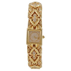Bulgari Diamond Trika Gold Watch