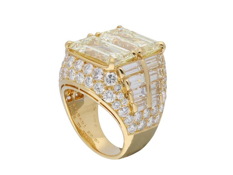 Emerald Cut Bulgari Diamond 'Trombino' Ring, Italian, circa 1970 For Sale