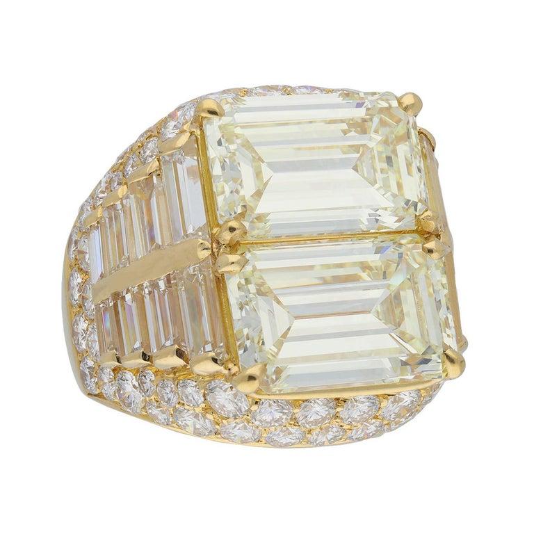 Bulgari Diamond 'Trombino' Ring, Italian, circa 1970 For Sale