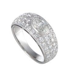 Bulgari Diamond White Gold Band Ring
