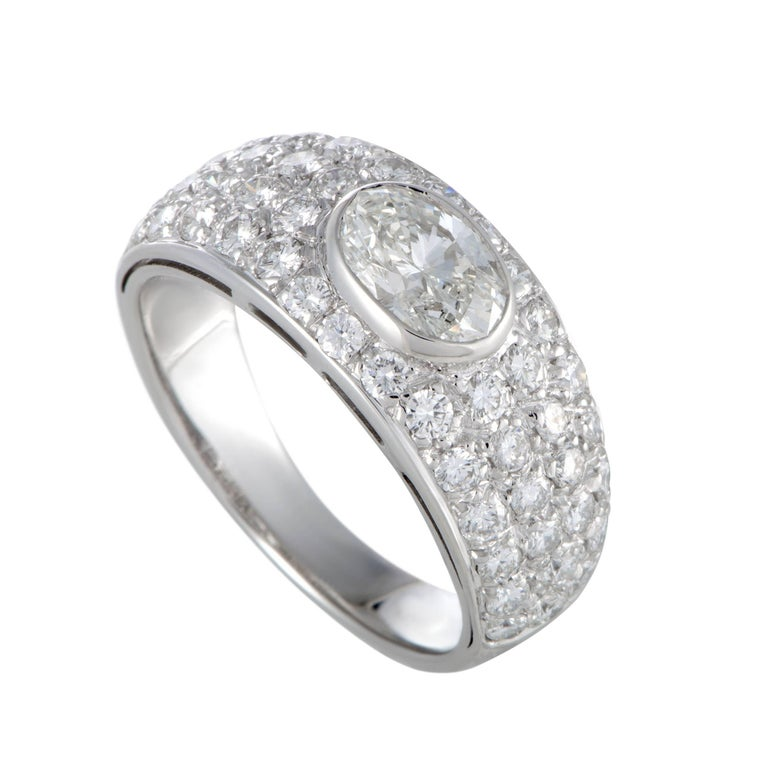Bulgari Diamond White Gold Band Ring