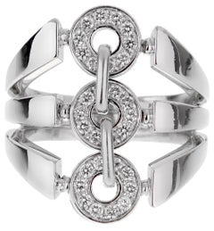 Bulgari Diamond White Gold Cocktail Ring
