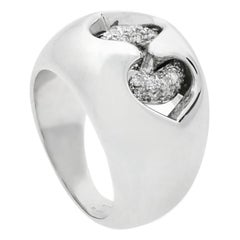 Bulgari Diamond White Gold Dome Ring