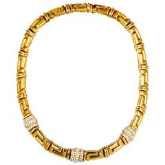 Bulgari Diamond Yellow Gold Collar Necklace