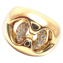 Bulgari Diamond Yellow Gold Ring