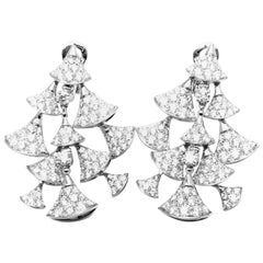 Bulgari Diva's Dream 10.5 Carat Diamond White Gold Drop Earrings
