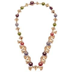 Bulgari Divas Dream Diamond Rose Gold Necklace