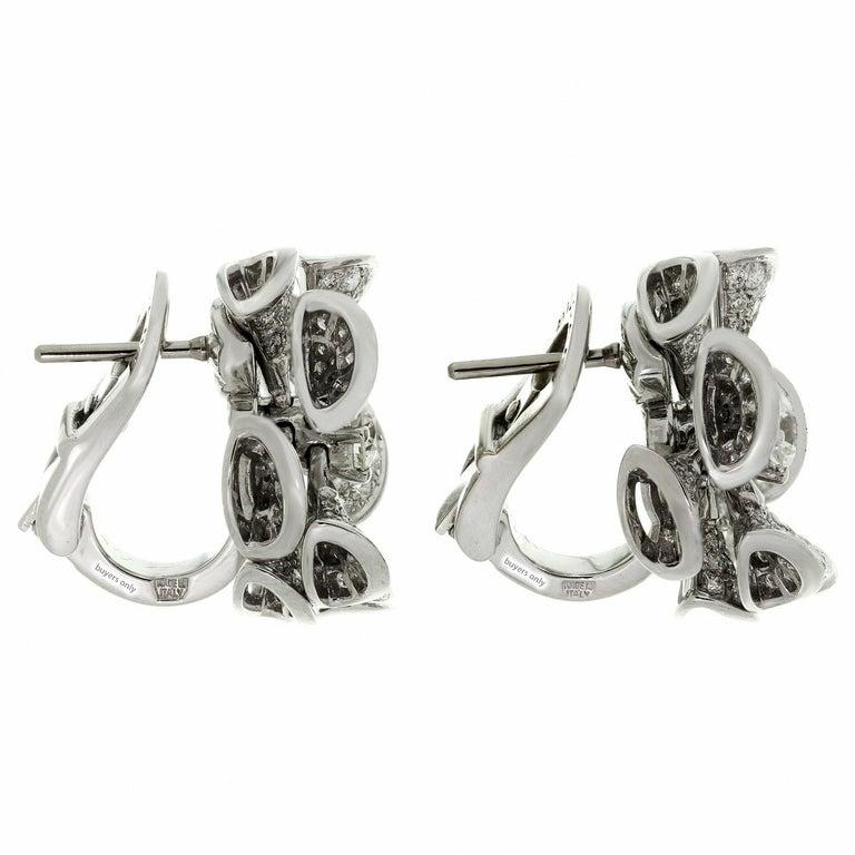 Bulgari Divas' Dream Diamond White Gold Flower Earrings For Sale 1