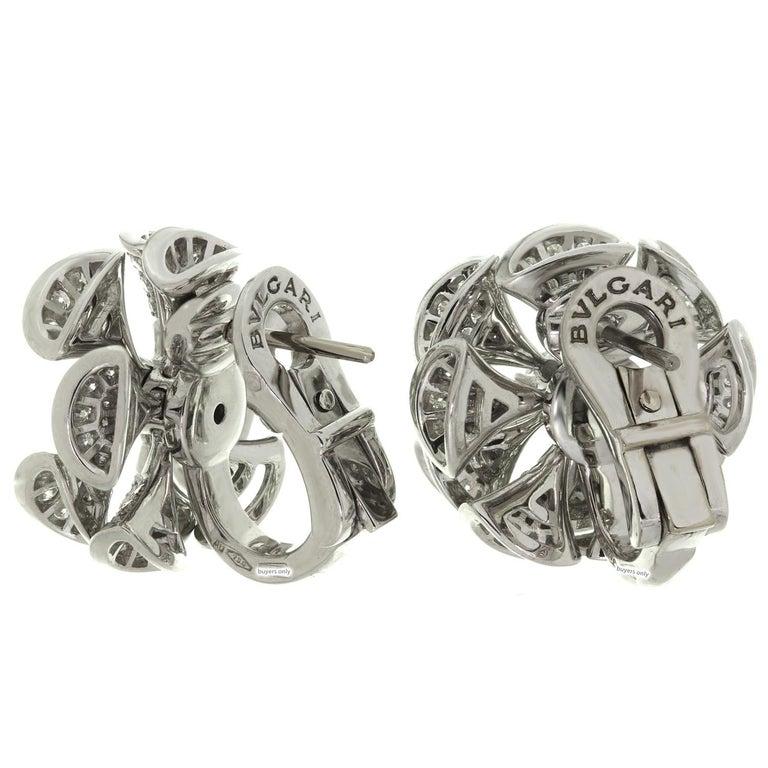 Bulgari Divas' Dream Diamond White Gold Flower Earrings For Sale 2