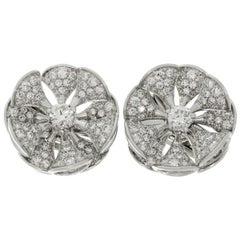 Bulgari Divas' Dream Diamond White Gold Flower Earrings