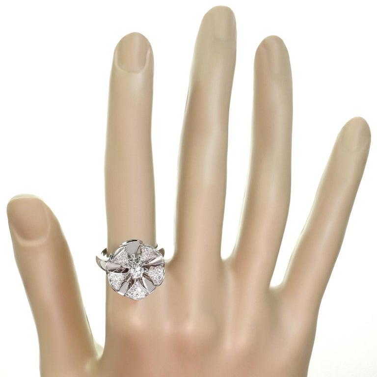 Women's Bulgari Divas' Dream Diamond White Gold Flower Ring For Sale