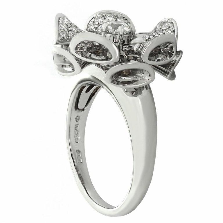 Bulgari Divas' Dream Diamond White Gold Flower Ring For Sale 1
