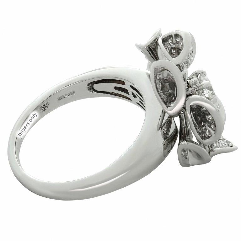 Bulgari Divas' Dream Diamond White Gold Flower Ring For Sale 2