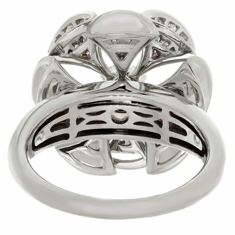 Bulgari Divas' Dream Diamond White Gold Flower Ring For Sale 3
