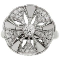 Bulgari Divas' Dream Diamond White Gold Flower Ring
