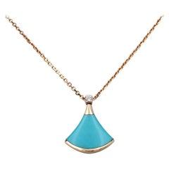 Bulgari Diva's Dream Rose Gold Turquoise Diamond Pendant