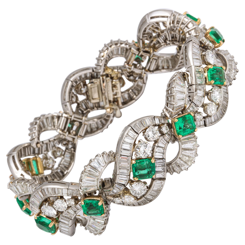 Bulgari Emerald Diamond Bracelet