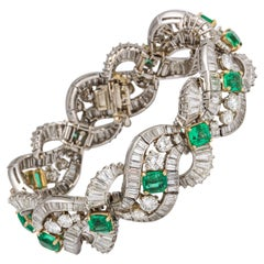 Bulgari Emerald Diamond Bracelet