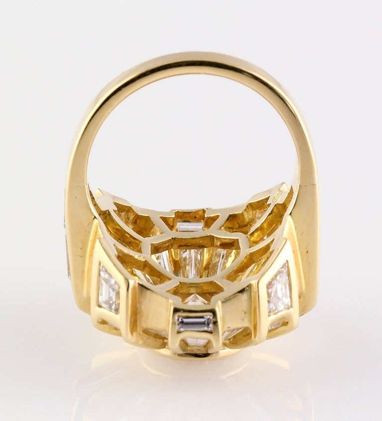 Women's Bulgari Estate Diamond and 18 Karat Gold Cocktail Ring For Sale