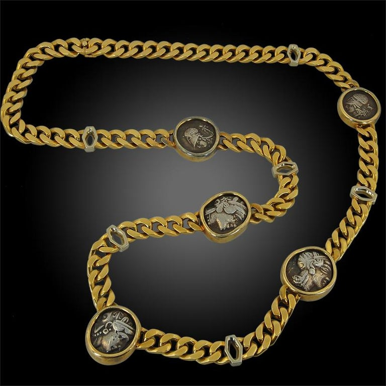 The Monete collection was first introduced by Bulgari in the 1950s, and remains one of the most iconic collections due to the incredible history behind each piece.  The collection features ancient coins from various empires and eras. Part of the