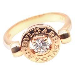 Bulgari Flip Diamond Rose Gold Band Ring