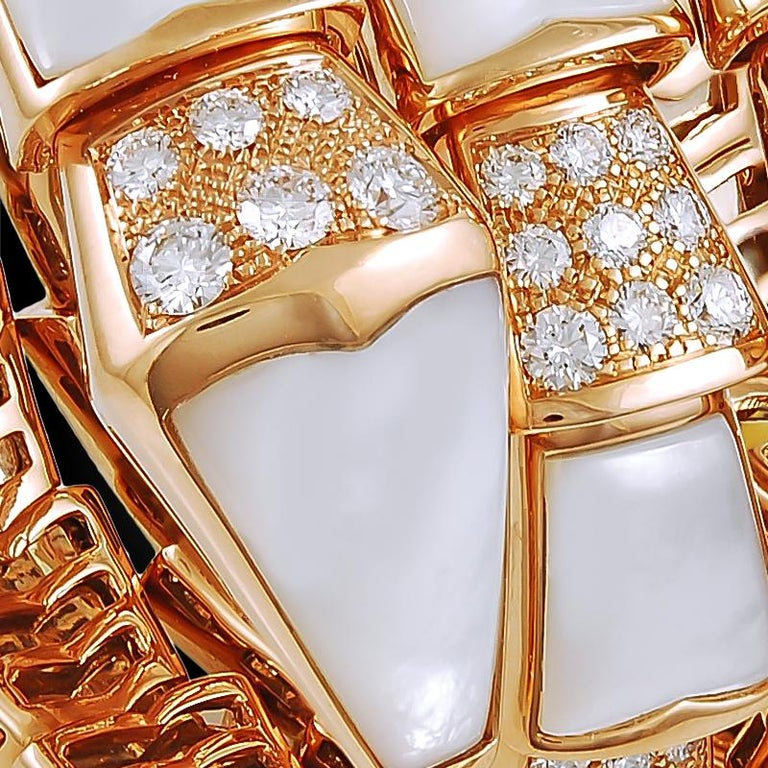 Bulgari Four Coils Serpenti Bracelet In Excellent Condition For Sale In New York, NY
